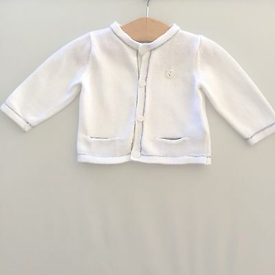 Mayoral Layette Baby Boys white Cardigan.60cm 1-2 Months.