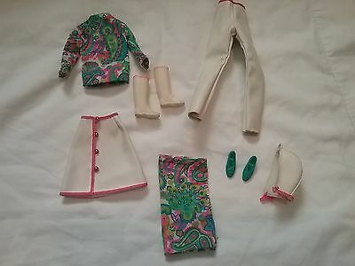 1966 Mattel Barbie Francie Leather Limelight #1269 Outfit w/Squishy Buckle Shoes