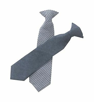 Boys Youth Toddler Baby Blue and Striped Cotton Clip On Neck Tie