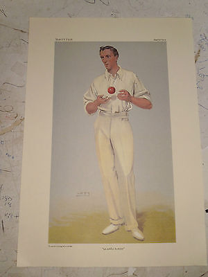 Vanity Fair Print Cricket An Artful Bowler Mr B.j.t Bosanquet
