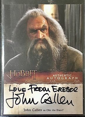 """LOVE FROM EREBOR"" autograph JOHN CALLEN as OLIN 2014 HOBBIT DESOLATION OF SMAUG"