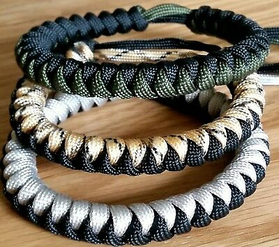Paracord Bracelet, Choice Of Colours, Adjustable, Army, Survival, Camping,.