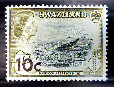 SWAZILAND 1961 - 10c SCARCE Decimal OPT SG73 Mounted Mint NB1216