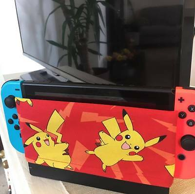 Custom Nintendo Switch Dock Cover/Dock Sock - Screen Protector Pokemon Pikachu
