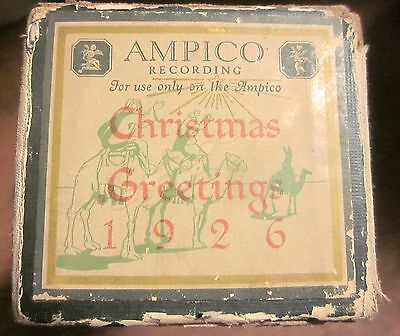 AMPICO Player Piano Roll CHRISTMAS GREETINGS 1926 Toyland - A Christmas Fantasie
