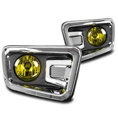 Bumper Driving Fog Lights Lamp Yellow Clear Lens W/Switch For 16-17 Titan Pickup