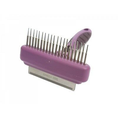 Rosewood Dog Puppy Cat Grooming Dematting Combo Comb and Moult Stoppa Detangler