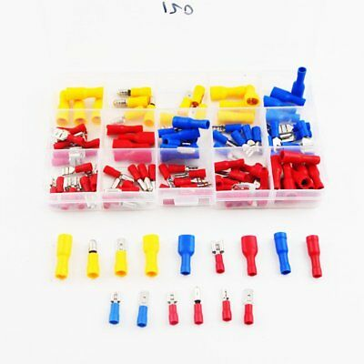 120Pcs Assorted Insulated Electrical Wire Cable Terminal Crimp Connector Set Kit