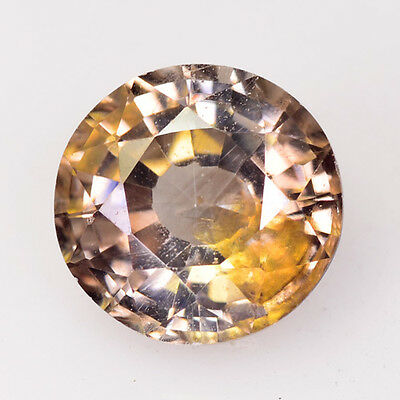Rare Gems Stone Collection Combodian Brown Colour Zircon 2.29 Ct Round Cut