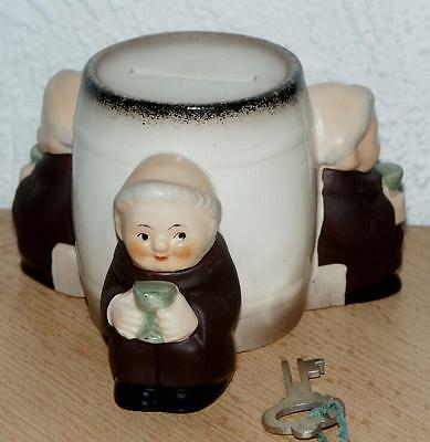 3 Tuck Monk Moneybox  SD 35  from Goebel  perfect with key TMK 3   EXTREMLY RARE
