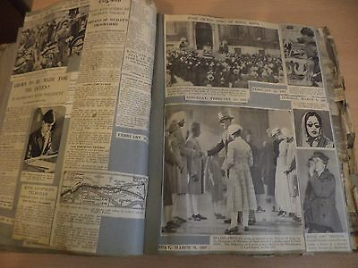 Old Vintage Newspaper Magazine News Large Scrapbook 1930S Royalty Royal Family