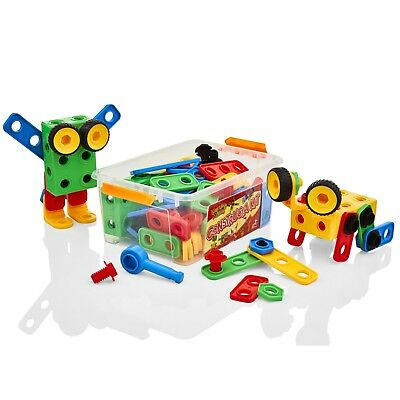 Learning Minds Model Building Tool Kit Childrens/Kids Construction Nuts Toy Set