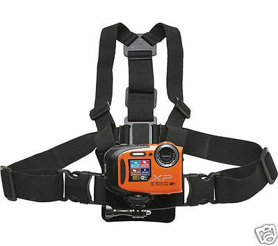 Fujifilm XP Chest Harness Mount Strap for Fujifilm XP and GoPro Cams Cameras