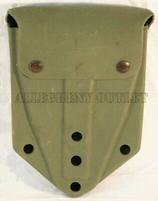 Entrenching E-Tool Shovel Carrier Pouch Cover Case OD GREEN w/ Alice Clips Army
