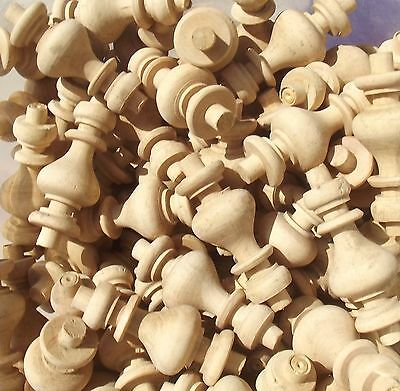 Set of French Wood Finials Small turned Spindles wooden Furniture embellishments