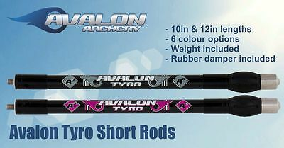 """Avalon Tyro Carbon Stabilizer Short Rod + Damper + Weights 10"""" 12"""" Colours"""