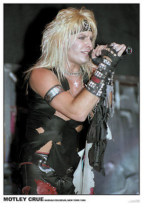 Motley Crue Vince Neil 1984 NEW Poster A1 Size 84.1cm x 59.4cm-33 inch x 24 inch