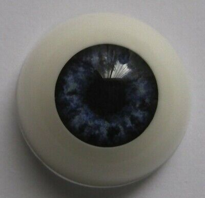 Reborn doll eyes 22mm Half Round  OCEAN BLUE