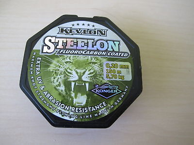 Steelon Fluorocarbon Coated Invisible Fishing line Extra UV 150 m Spools New
