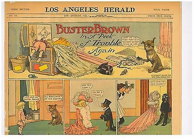 Buster Brown In a Peck of Trouble again Original Comic 1904 R F Outcalt