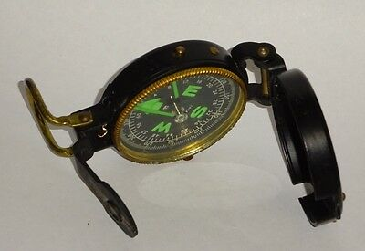 Tc Japan -Engineer Nautical Pocket Compass Vintage