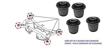 REAR SUB FRAME MOUNTING 4 BUSHES SET HEAVY DUTY For NISSAN XTRAIL T30  (01-07)