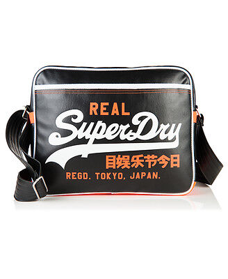 New Unisex Superdry Mashed Up Alumni Bag Black
