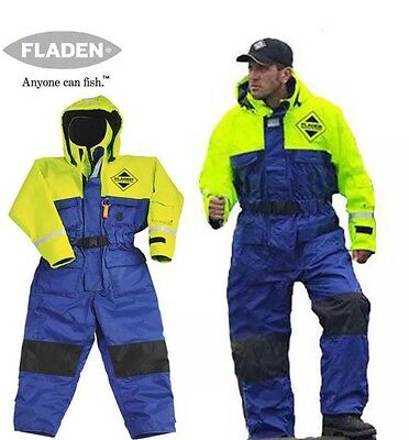 FLADEN RESCUE SYSTEM - One Piece Blue and Yellow Flotation Suit (size XL)