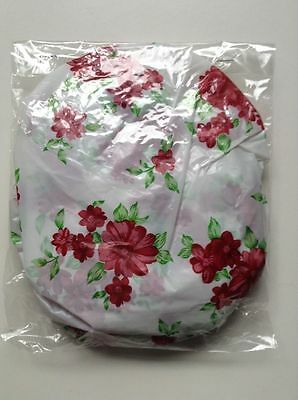 10 Elastic Bowl Covers Plastic Bowl Saver Various Sizes NEW Red Flowers