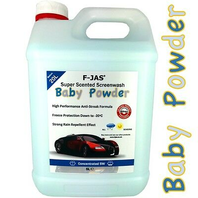 Concentrated Screen Wash Bugs Splatter Removal 5L Winter BABY POWDER F-JAS