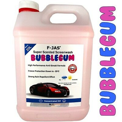 Concentrated Screen Wash Bugs Splatter Removal 5L Winter BUBBLEGUM F-JAS