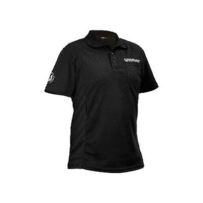 WINMAU WINCOOL 2 DARTS SHIRT - Black - Many Sizes
