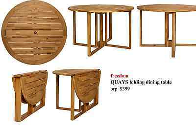 freedom QUAYS folding dining table in Neutral orp $399