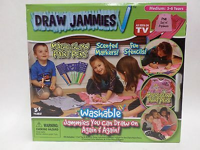Draw Jammies Washable Pajamas You Can Draw On Girls Pink Choose Your Size New