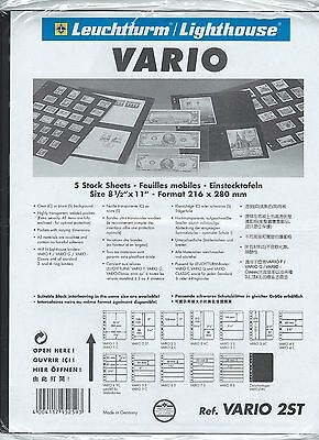 (5) Lighthouse Vario 2St Stamp Stock Sheets Double-Sided Black Background Sealed