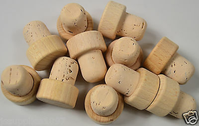 WOODEN T top stopper CORK 19mm dia, bottle bung STRAIGHT QTY 5, wine stop home
