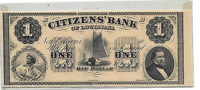 Lowest Price On E-Bay Gem Unc  Citizens Bank Of Louisiana  Sail Boat Note