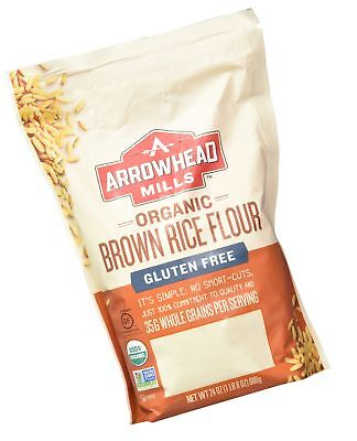 Arrowhead Mills Organic Gluten Free Brown Rice Flour 24 Ounce (Pack of 6)