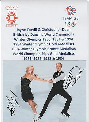 Torvill & Dean Ice Skaters 1984 Olympic Gold Original Hand Signed Photograph