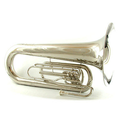 Schiller Field Series Big Bell Marching Tuba Nickel Plated