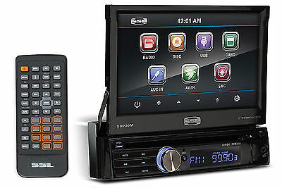 "SSL SD730M Single-Din 7"" In-Dash DVD/CD Player Receiver w/ USB/SD/AUX + Remote"