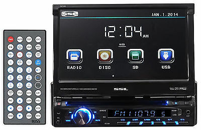 "SSL SD724M Single-Din 7"" In-Dash DVD/CD Player Receiver w/ USB/SD/AUX + Remote"