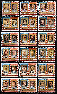 Equatorial Guinea 1975 American Bicentenary/presidents Set Of 18 Stamps Used