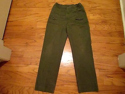 Men's Boy Scout Scouts BSA Green Uniform cargo Pants 36 x 36 vintage