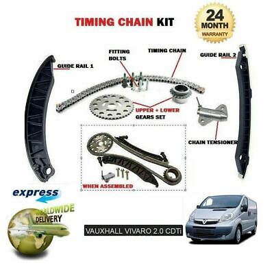 For Opel Vauxhall Vivaro 2.0 Cdti 2006-->New Timing Cam Chain Kit With Gears