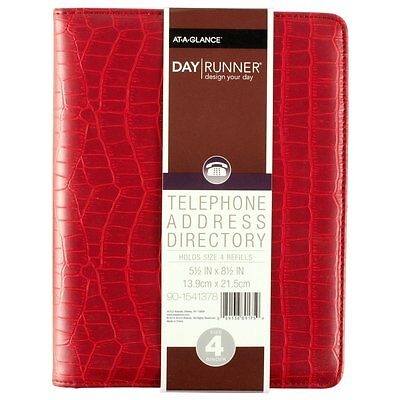 Day Runner 2016 Desk 4-3/4 x 8 5-3 x 8-11/16 Inches Telephone/Address Book #14W