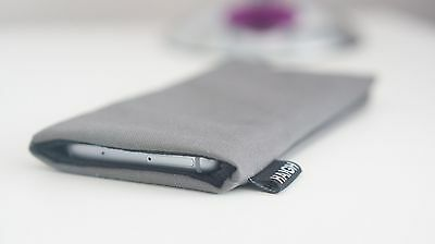 Galaxy S9 Mobile Phone Sock Pouch Sleeve Grey Slip In Case- HaighPouch