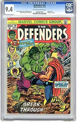 Defenders #10 CGC 9.4 NM off wht - wht pgs Avengers Crossover Series, Iron Man