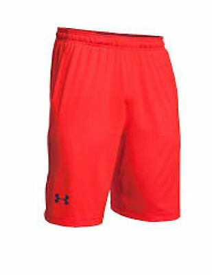 Under Armour Men's Micro Solid Shorts w/ Pockets, Red, Large (1236423)