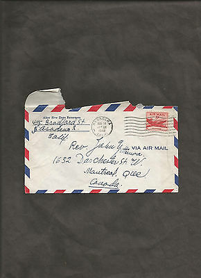Air Mail Cover 1948 From Pasadena California to Montreal Canada